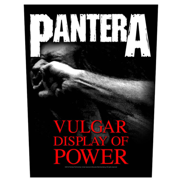 Pantera - Ryggmärke - Vulgar Display Of Power