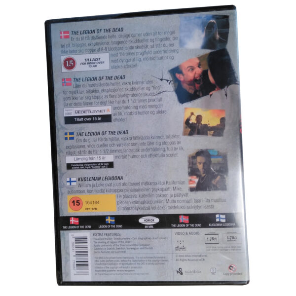 The Legion Of The Dead - DVD - Skräck med Michael Carr