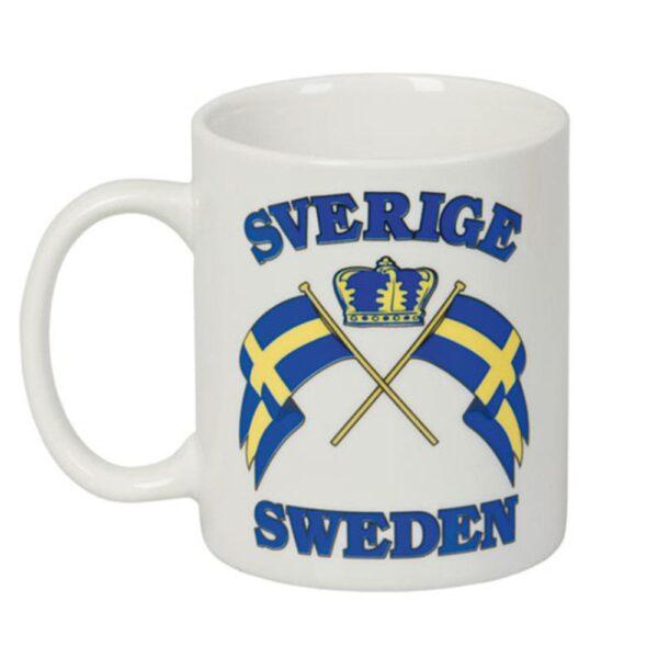 Mugg - Sverigeflaggor