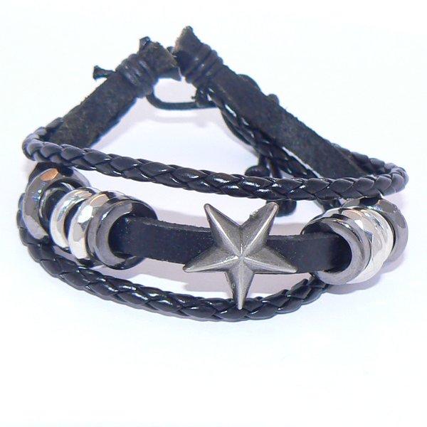 KangYing - Läderarmband - Stjärna