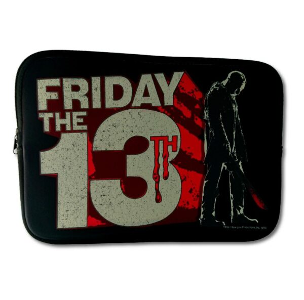 "Friday The 13Th - Laptopfodral - 13"" - Block Logo"