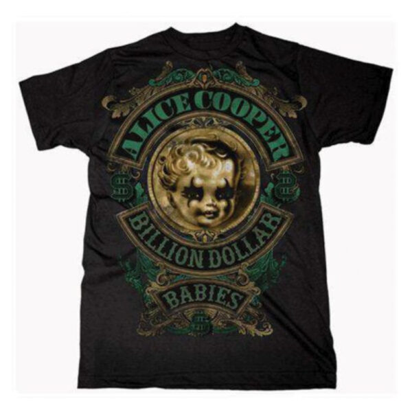 Alice Cooper - T-Shirt - Billion Dollar Baby Crest