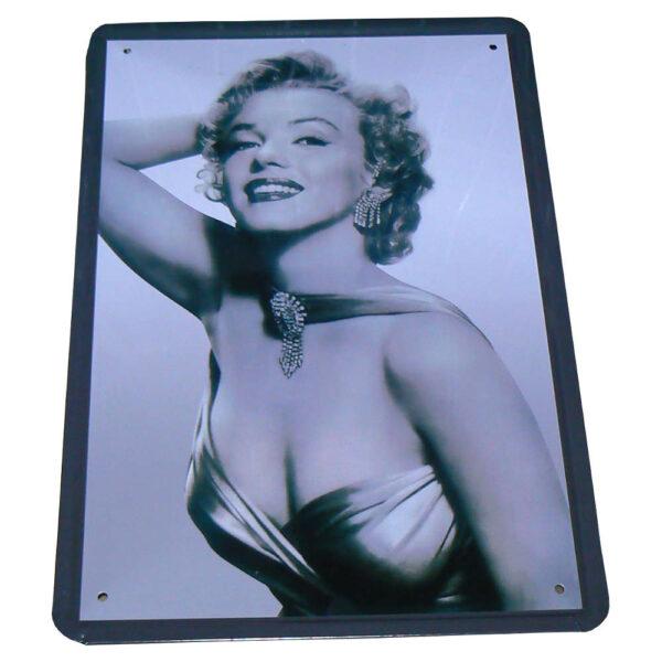 Plåttavla / Metallskylt (Marilyn Monroe) 30x20 cm