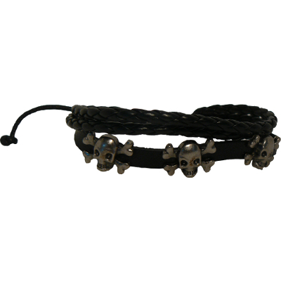 KangYing - Läderarmband - Dödskallar