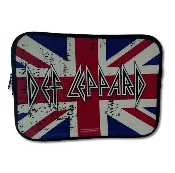 "Def Leppard - Laptopfodral 13"" - Union Jack Flag"