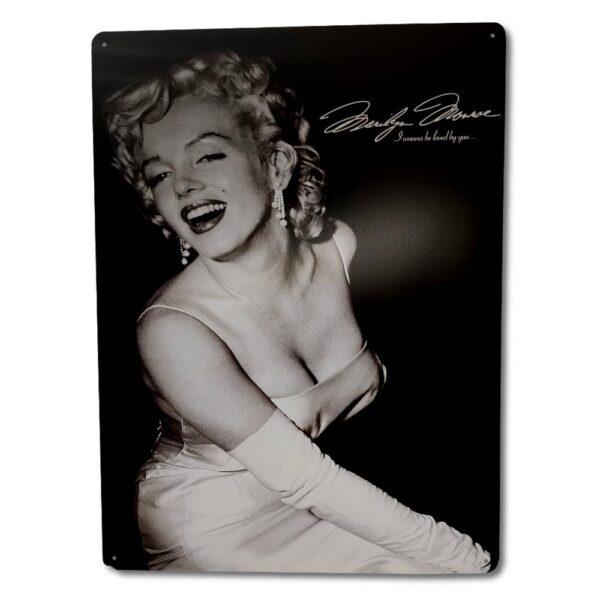 Marilyn Monroe - Metallskylt / Plåttavla - I wanna be loved by you