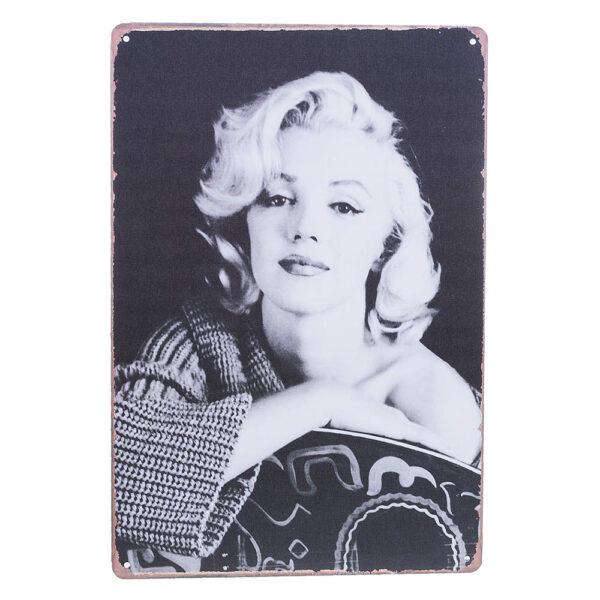 Marilyn Monroe - Metallskylt / Plåttavla