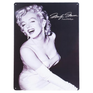 Marilyn Monroe - Metallskylt / Plåttavla - I wanna ve loved by you