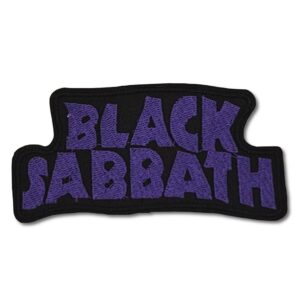 Black Sabbath - Tygmärke - Purple Logo
