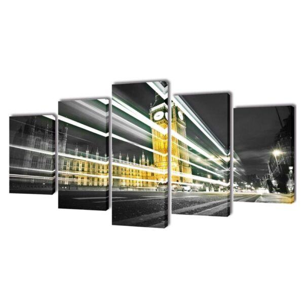 Canvastavla - London - Big Ben - 5 delar